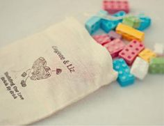 """Lego wedding favors? """"Thank you for helping us build our family"""" Help build our memories"""