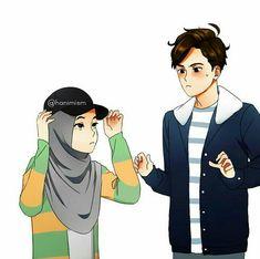 New drawing woman cartoon 38 ideas Cute Muslim Couples, Muslim Girls, Cute Couples, Drawing Cartoon Faces, Drawing People Faces, Cute Couple Art, Couple Ideas, Islamic Cartoon, Couple Sketch