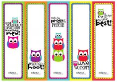 Free Back to School Owl Printables (esp. like the bookmarks!)