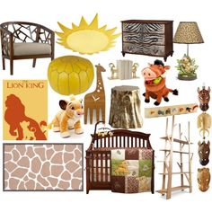"""The Lion King nursery"" by molly-pop on Polyvore"