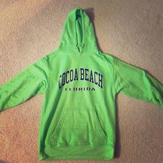 Lime Green Cocoa Beach Sweatshirt Lime green Cocoa Beach Sweatshirt. Decent condition. Tops Sweatshirts & Hoodies