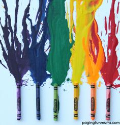 Melted Crayon Art! FUN art projects to do with kids!