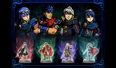 Fire Emblem's Marth, Ike, Robin and Lucina in Code Name S.T.E.A.M., 3DS