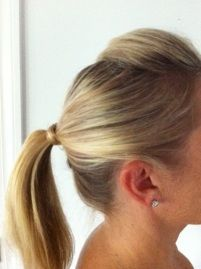 "Easy work hairstyle (for long hair ... which I don't have ... but I am a ""just in case, ya know, one day"" kinda pinner)"