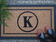 $7 personalized doormat  athomeinthenorthwestblog.com