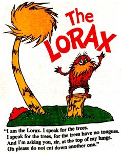 such a great story for children. stand up for the trees! (and the waters, and the lands, and all of Earth)