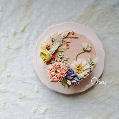 #cakedesign #flower #koreanflowercake #flowercake