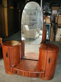 Deco-Dence Art Deco - Unrestored - Vanities 1 - Art Deco club chairs, bars, dining, bedroom, desks