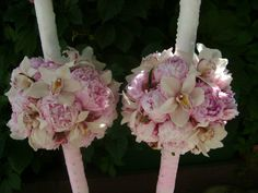 Lumanari nunta Decorated Candles, Baptisms, Candels, Tutu, Floral Wreath, Easter, Baby Shower, Wreaths, Weddings
