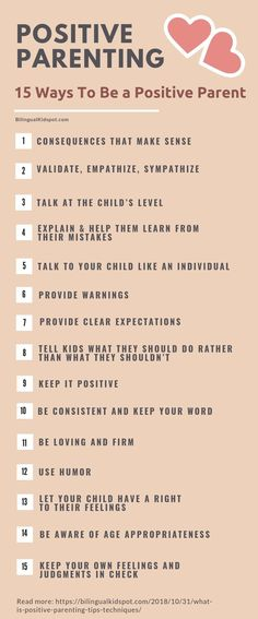 POSITIVE PARENTING TIPS - Infographic
