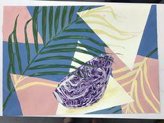 平面構成 Plant Leaves, Graphics, Plants, Graphic Design, Printmaking, Plant, Planets