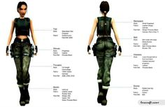 Tomb Raider angel of darkness camo pants outfit