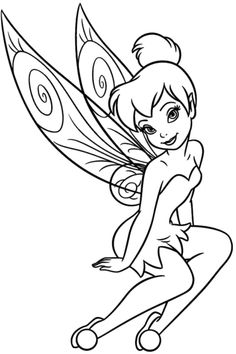 Tinkerbell Is Attractive And Beautiful Coloring Pages