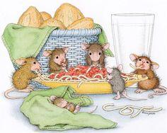 Spagetti bolognese mouse - Ellen Jareckie