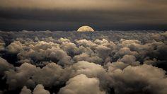 DesertRose///Moonwalk Moon Sky Clouds - Photography by Victor Caroli