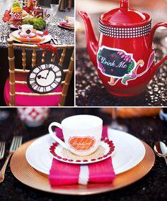 Wonderlandia Table #6: A Modern Glam Tea  POSTED IN:BIRTHDAY PARTY IDEASBRIDAL SHOWERSTHEME PARTIESWEDDINGS