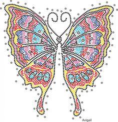 Nolita vlinder   Vlinder/Butterflies   glittermotifs