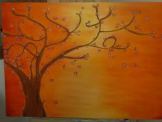 Abstract Tree. Oil on stretched canvas