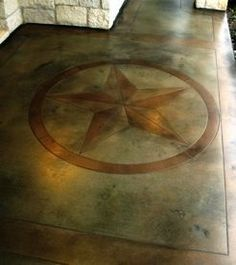 Stenciled and Stained concrete floors