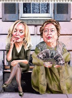 """Jessica Lange and Kathy Bates - """"American Horror Story - Coven"""""""
