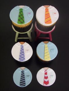 fondant cupcake toppers. would also be cute for Sean's missionary homecoming party