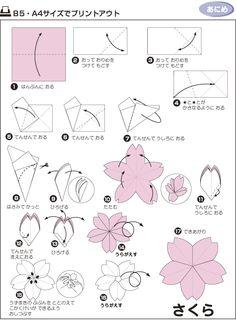 Sakura origami diagram block and schematic diagrams paper craft origami pinterest origami craft and origami diagrams rh pinterest com origami sakura ball origami sakura star mightylinksfo