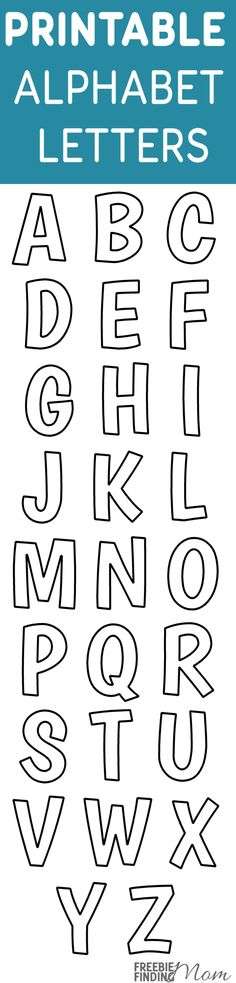 Printable free alphabet templates are useful for a myriad of projects for school, crafts, scrapbooking, teaching kids their letters, a homeschool room and more. Keep these free printables handy. Go ahead and print yours now.