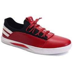 Fashionable Striped and Splicing Design Men's Casual Shoes #>=#>=#>=#>=#> Click on the pin to check out discount price, color, size, shipping, etc. Save and like it!