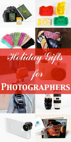 Holiday Gift Ideas for Photographers #photogift, #gifts, photography gifts