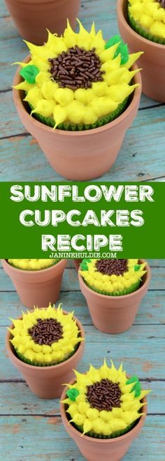 Sunflower Cupcakes Recipe - Inspired by #disney #epcot Flower & Garden Festival