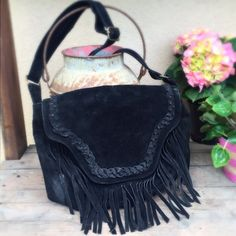 FRINGED Suede Crossbody Bag- Steve Madden🎀6x HP🎀 Super cute and on trend Crossbody bag with FRINGE to bring it to life! Adjustable strap, outside zip pocket, inside pockets. Some wear on the back, but difficult to see unless in bright light. Lots of mileage left on this one so snatch it up and rock your look! Please ask all questions prior to purchase. Steve Madden Bags Crossbody Bags