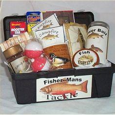 fishing lover gift basket