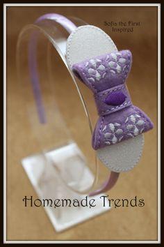 Princess Hair Accessory-Purple Amulet Princess- Purple Amulet-First Princess Hair Bow-Junior Princess Accessory-Purple Princess 3D Felt Bow