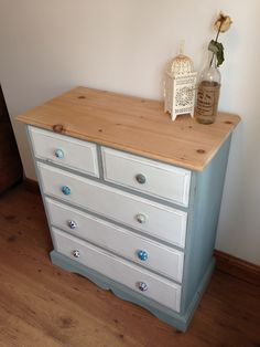 shabby chic chest of drawers with odd knobs for sale contact us