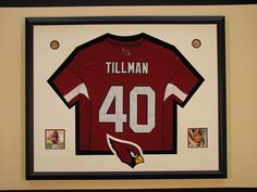 Congratulations to Tony Thomas of Fastframe Chandler, AZ. His framed creation of a Pat Tillman jersey was unanimously chosen by our judges for our 2015 Sports Framing Contest. The piece will be on display in the Crescent Cardboard (our co-sponsor) booth at the 2016 West Coast Art & Frame Show.