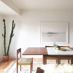 Large plants make a serious statement in any room -- they add height, bring life to a space, + clean your air! (Not to mention they can be very affordable--I've found all my plants on #craigslist.) ➡️ Love the look? Click the #linkinprofile to add a little nature to your home