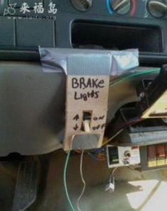 No joke this reminds me of an RV we bought that I would have to remove the wire nuts from and connect the wipers or the parking lights depending on the need! NOPE FAMILY FUN
