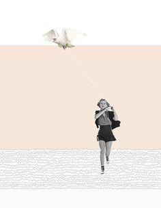호주 멜버른에서 활동하고 있는 일러스트레이터이자 그래픽디자이너인 Alexandra Ethell 의 콜라주 작품입니다.