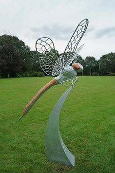 Moorland Garden Hotel Dragonfly sculpture 2012 by Thrussell and Thrussell http://www.thrussellandthrussell.com/Insects.html
