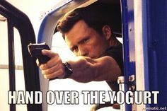 If you know Michael Weston at all, you know not to mess with his yogurt.