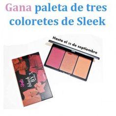 Gana #paleta de tres coloretes de Sleek ^_^ http://www.pintalabios.info/es/sorteos-de-moda/view/es/4932 #Internacional #Sorteo #Maquillaje