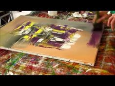 Abstract acrylic painting - Démonstration peinture abstraite - Althea - YouTube
