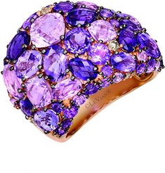 Le Vian 14K Rose Gold 8.35 Ct. Tw. Diamond & Cotton Candy Amethyst Ring