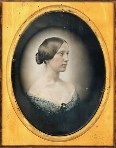 +~+~ Antique Photograph ~+~+ Albert Sands Southworth and Josiah Hawes ~ Portrait of a Young Woman. c. 1850