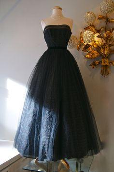Vestido de 1950 / / Vintage vestido de tul
