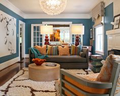 wall color swoon.....  Eclectic Living Room Design, Pictures, Remodel, Decor and Ideas - page 5