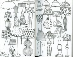 My monthly sketchbook challenge. January 2016 - Day 27 of the 31 things to draw challenge: lamp. Klika Design illustrations.
