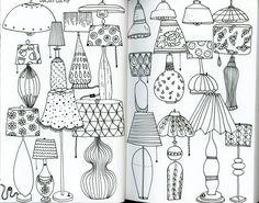 Klika Design: Creativebug Drawing Challenge with Lisa Congdon Day 27: lamp