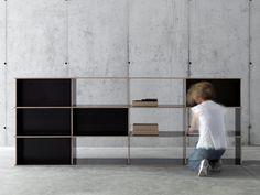 Double-sided modular bookcase J.M.B./4.3.2