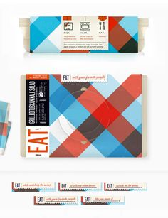A nice looking to-go package design for The Munchery. By Kelli Anderson.